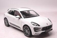 Porsche Macan Turbo 2013 SUV model in scale 1:18 white