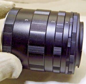 Macro Extension tube set for Nikon F Ai Lens cameras  for 1:1 close-ups Micro