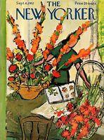 1952 New Yorker September 6 - Flower Arranging by Birnbaum