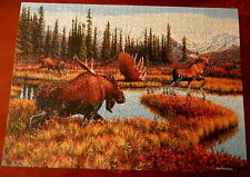 COBBLE HILL 1000 pc Puzzle MOOSE TRAVELS  - JIM KASPER  Complete in Original Box