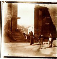 Scena Da Village Bambini c1910, Foto Stereo Vintage Placca Lente VR4L7