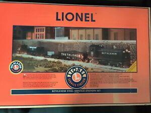 """Lionel 6-21758 Bethlehem Steel Service Station """"O"""" Gauge Train Set - New In..."""