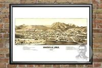 Old Map of Maysville, CO from 1882 - Vintage Colorado Art, Historic Decor