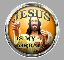 JESUS IS MY AIRBAG 9CM HUMOUR FUN DRIFT JDM AUTOCOLLANT STICKER JA055