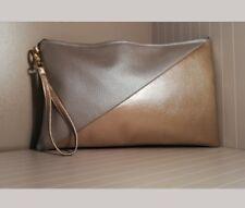 Half Gold/Half Silver Clutch - NEW - CB Bags