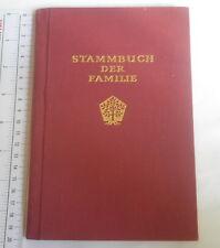 STAMMBUCH DER FAMILIE Deutsche document Germany 1966 Frankfurt Family Tree Book