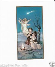 Vintage Catholic Holy Bible Prayer Card  Beautiful  Early 1950s  Made in Italy