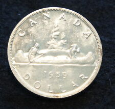 1959 Canadian Silver Dollar BU 80% SILVER  Extremely NICE old Coin!