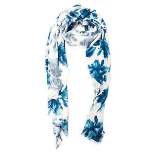 SOFT TOUCH BAMBOO AND COTTON PRINTED SQUARE SHAWL / WRAP - FLORAL PRINT