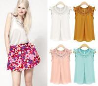 Summer Women Ladies Blouse Tank Tops Loose Formal Sleeveless Shirt Vest Fashion