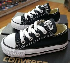 Converse All Star Chuck Taylor Low 7J235 Black Toddler Us Sz 3