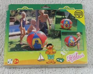 "36"" ZAPF CREATIONS Inflatable SESAME STREET Beach Ball Vintage `98 Sprinkler SPH"