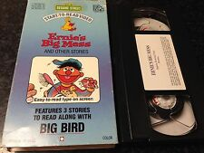 SESAME STREET-ERNIE'S BIG MESS AND OTHER STORIES VHS VIDEO-START TO READ VIDEO