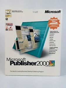 UNOPENED Vintage Microsoft Publisher 2000 Big Box PC Windows 95 CD 164-00866