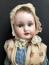 "Antique German 8"" Armand Marseille 390 Bisque Head Dutch Doll"