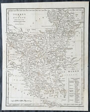 1798 Aaron Arrowsmith Antique Map of Turkey in Europe - Greece to Hungary