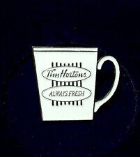 Rare Tim Horton's  Always Fresh  {vintage advertising pin / pinback}