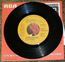 "PATTY PRAVO BAMBOLA SE C'E AMORE 1968 PROMO 7"" VINYL JUKE BOX ITALY 45 giri/rpm"