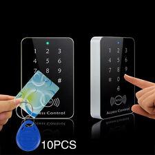 12V Door RFID Card Password Reader Access Controller Keypad +10 Key Fobs
