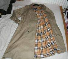 MENS OLIVE BURBERRYS MAC / TRENCH COAT BURBERRY JACKET SIZE - LARGE L / XL