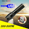 USB  Charger Zoomable Flashlight 8000 Lumens Flashlight LED XML-T6 Torch Lamp