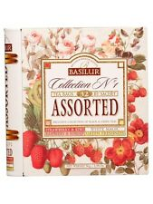 Basilur Tea Book Collection No1 Assorted 32 Tea Bags in Tin Caddy