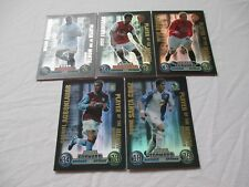 Match Attax Attack Extra 2007/08 07/08 Complete Set All x 5 Player of the Month