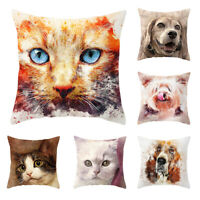 HN- 45x45cm Animal Cat Dog Cushion Cover Soft Throw Pillowcase Home Decor Candy
