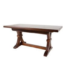 Tavolo in legno massello rettangolare allungabile colore noce 100x180/360 A16768