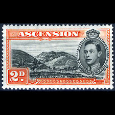 ASCENSION Is 1938-53 2d Green Mountain. Perf 13.5. SG 41. LHM. (CA02E)
