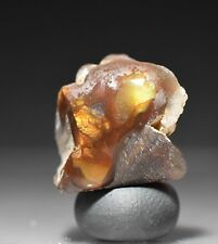 Mexican Fire Agate Rough Windowed from Aguascalientes,