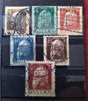Bayern Dienstmarken Nr. 6 - 11 , Prinzregent Luitpold, gestempelt o