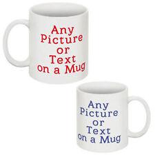 PERSONALISED CUSTOM PHOTO MUG CUP GIFT COFFEE/TEA IMAGE/TEXT