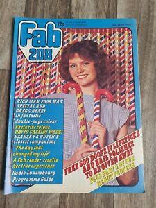 Fab 208 Magazine 18th June 1977-Gregg Henry/David Cassidy/Starsky & Hutch