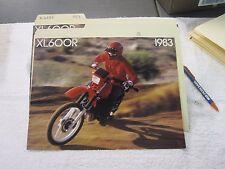 NOS Honda 1983 XL600R  DEALER SALES BROCHURE