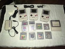 Vintage Original Nintendo Game Boy Lot With Light Boy +10 Games And Power Cord