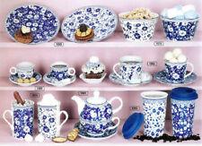 Vajillas color principal azul de porcelana