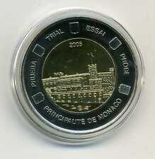 Prova Moneta Esemplare Essai 2 Principaute de Monaco 2005 M_317