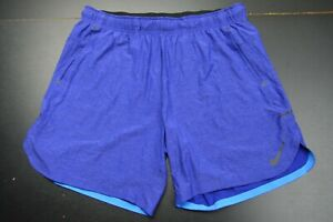 NIKE DRY-FIT RUNNING POLYESTER SOLID BLUE ACTIVE SHORTS SIZE: XLARGE  **NWT**