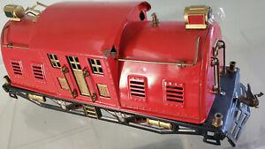 Lionel 10E Red Restored Locomotive Cab om 10 Small Gear Super Motor Chassis 1925