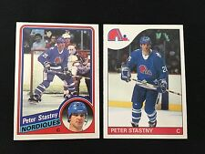 PETER STASTNY 1984 OPC & 1985 O-PEE-CHEE QUEBEC NORDIQUES VINTAGE HOCKEY CARDS