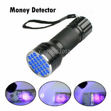 21 LED UV Ultraviolet Torch Counterfeit Fake Forgery Banknote Money Detector