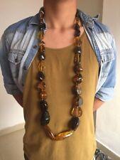 Collar Ambar. Mexicano, Original Y Mide 1.16cm. Con Broche En Plata 925.