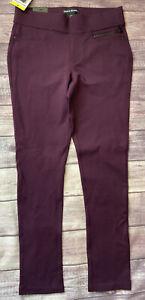 DKNY Jeans Ponte Pull on Pants Aubergine Burgundy Size S