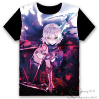 Anime Fate/stay night Pullover Short Sleeve Crewneck T-shirt Tee Tops Black Gift