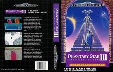 Phantasy Star III 3 Sega Mega Drive PAL Replacement Box Art Case Insert Cover
