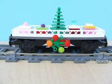 New Custom Lego Christmas Holiday Train Car Built w/ NEW Bricks fits 10173 10254