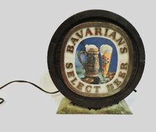 VINTAGE 1960s 70s BAVARIANS SELECT BEER LIGHTED BAR SIGN b