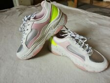 PRIMARK Girls size 2 eur 35 white pink Trainers shoes boots