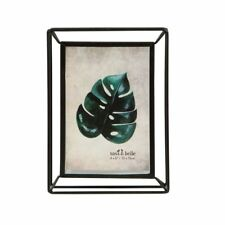 Sass & Belle Metal Iron Standing Photo Frame Leaf Portrait Picture 4 X 6